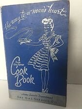 The Way To A Mans Heart 1956 Your Gas Range Cook Book Vintage Illustrated