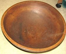 "FABULOUS 1800'S AMERICAN FOLK ART WOOD 17 1/4"" WIDE PRIMITIVE DOUGH BOWL"
