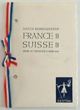 More details for 1934 france b v switzerland b menu 11/03/34
