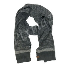 Timberland Men's Medium Weight Dark Charcoal Grey Acrylic Scarf A1EF3
