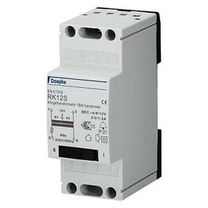 Klingeltrafo mit Schalter 4V 8V 2A 12V 1,5A Klingeltransformator DOEPKE RK12