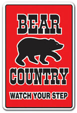 BEAR COUNTRY Decal farm animals watch your step redneck parking