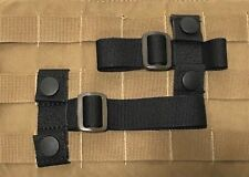 2 MOLLE PLATE CARRIER TACTICAL VEST ADAPTER T-BAR ACCESSORY LOOP TUBING BLK NEW