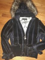 Baby Phat Hooded Fur Faux Winter Jacket Pre-owned