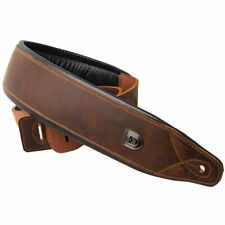Top Grain Leather Cowhide Guitar Strap for Electric Bass Guitars Adjustable Belt