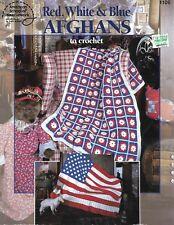 *Red, White & Blue Afghans crochet PATTERN INSTRUCTION booklet