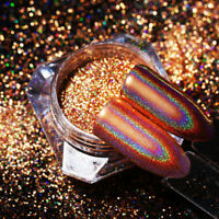 Born Pretty Holographic Nail Glitter Mirror Champagne Gold Powder 0.2/0.5/0.8g