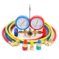 R12 R22 R502 HVAC A/C Auto Refrigerant Charging Service Manifold Gauge Set 5ft