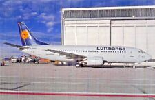 LUFTHANSA Boeing 737-330 c/n 24283 Airline Airplane Postcard