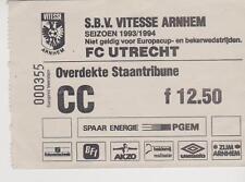 Sammler Used Ticket / Entrada Vitesse Arnhem v FC Utrecht 03-10-1993