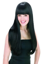 60s Cher Got You Babe Costume Black Wig Cleopatra Egyptian Queen Morticia Addams