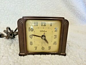 Vintage Telechron Little Tel Alarm Clock Electric Bakelite