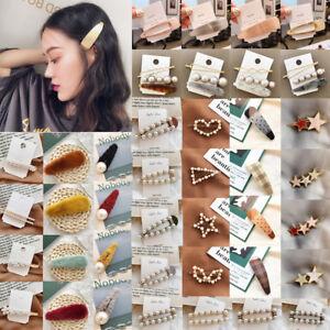 Women Plush Pearl Hair Clips Hair Pins Barrette Stick Bobby Pin Hair Accessories