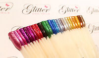 METALLIC GLITTER FOR NAIL ART / SOLVENT AND UV RESISTANT / SIZES 004 + 008