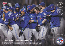 2016 Topps NOW 533 Blue Jays Rookie Aaron Sanchez WC Win vs Red Sox ONLY 315 RC