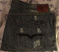 "Men's TOKYO FIVE ""Straight Fit"" distressed medium wash jeans 40 x 30"