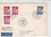 sweden 1965 stamps cover ref 19563