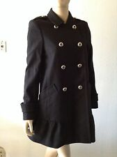 JUICY COUTURE BLACK WOOL PEACOAT SIZE M