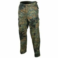 GERMAN FLECKTARN CAMOUFLAGE MILITARY STYLE BDU CARGO PANTS  6 POCKET FATIGUE