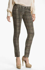 NWT Haute Hippie   Plaid Snake Print Jeans $245 Size 27