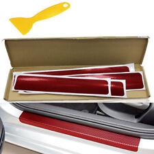 Rot 4X Einstiegsleisten Aufkleber Autotür Schwellerleiste Folie Sticker+Schaber