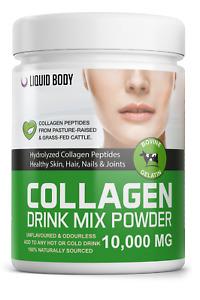 LIQUID BODY - Premium Bovine Hydrolysed Collagen Peptides Protein Powder 300gram