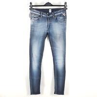 Replay Jeans Luz Damen W30 (wie W27) L32 Blau Super Skinny WX689S Neu