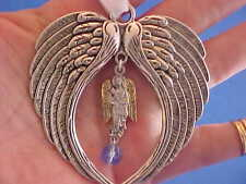 Rare ARCHANGEL St GABRIEL Ornament Angel Wings Sun Catcher BLUE Saint Medal BOX