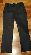 Gloria Vanderbilt black cotton spandex dress slacks women's size 8 GUC