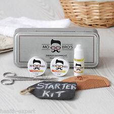 Mo Bro's Beard Grooming Kit- Gift Tin,Moustache Wax, Beard Balm, Beard Oil, Comb