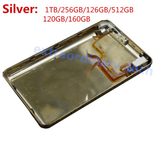 Silver Thick Back Case & Housing Audio Jack Hold Switch for iPod Classic & Video