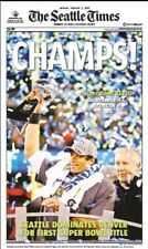2014 - SEATTLE SEAHAWKS -  Headline SUPER BOWL Championship Poster