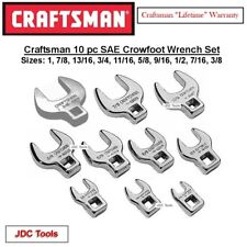 "Craftsman 3/8"" Drive Standard SAE Crowfoot Wrench Set 10 pc (3/8"" - 1'')"