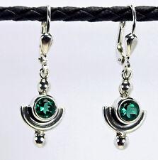 Ohrringe / Ohrhänger aus Silber 925 mit echtem Grünquarz / Sterlingsilber