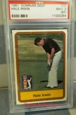 Hale Irwin, 1981 Donruss Golf #38, PSA MINT  9
