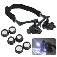 10/15/20/25X LED Magnifier Magnifying Eye Glass Loupe Jeweler Watch Repair Tool