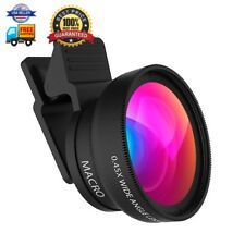 Cell Phone Lens ZOETOUCH 0.45X Super Wide Angle Lens 12.5X Macro Lens 2 in 1 Pro