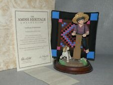 Willitts Amish Heritage 1993 First Ed. Signed ~Aaron & Caleb~ Boy And His Dog
