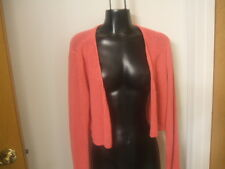 Eileen Fisher Open Cardigan Shrug Pink Medium 100% Silk Open Weave Cropped M