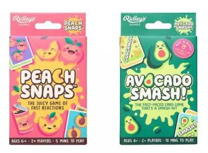 🍑 Peach Snaps & Avocado Smash 🥑 Two Fun Games Bundle Set NEW & SEALED