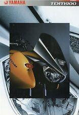 Prospekt 2002 Yamaha TDM 900 Motorradprospekt Motorrad brochure Japan Asien bike