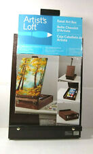 "Easel Art Box Artist's Loft compact portable storage holds up to 12 3/4"" canvas"