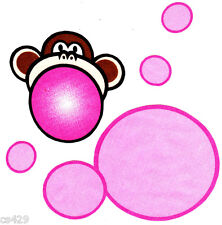 "5.5"" BOBBY JACK MONKEY BURST MY BUBBLE CHARACTER WALL SAFE FABRIC DECAL CUT OUT"