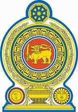 "Auto Aufkleber Wappen ""Sri Lanka"" Coat of arms 11cm Vinyl Sticker konturg."