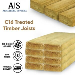 C16 Treated Timber Floor Joist 3x2 4x2 5x2 6x2 7x2 8x2 9x2 8x3 4x3 6x3 9x3 4x4