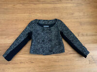 Proenza Schouler Womens sz 8 Double breasted Cropped Tweed Jacket - Black/white