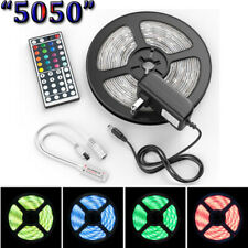 "5M LED Strip Light RGB ""5050"" SMD Light Tape Full Kit Indoor Outdoor"