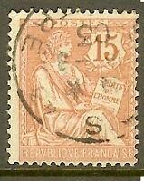 """FRANCE TIMBRE STAMP N°125 """"TYPE MOUCHON RETOUCHE, 15 C VERMILLION"""" OBLITERE TB"""