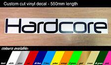 Hardcore-Grandes calcomanía-Vw / Vag / Dub / Jdm pegatina - 550mm