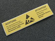 50 Papier Aufkleber Sticker Warnetikett Antistatik ESD EGB *NEU* 26x105mm